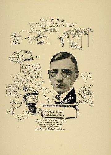 1923 Print Harry W. Mager Chicago Weisbach OBrien Tax – Original Print