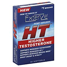 Extenze Higher Testosterone, HT, Softgels, 30 softgels