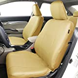 FH-PU007115 Deluxe Leatherette Car Seat Covers, Airbag compatible and Rear Split, Beige color