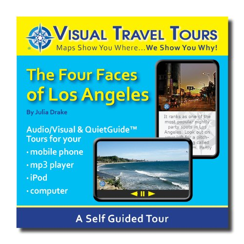 LOS ANGELES TOUR GUIDE TO HOLLYWOOD, BEVERLY HILLS, SANTA MONICA BEACH, AND VENICE BEACH. A Self-guided Audio/Visual Walking/Driving Tour--CD includes files to transfer to your cell-phone, iPod, or to print. (Self Directed Writers compare prices)
