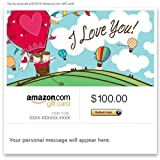 Amazon Gift Card - E-mail - I Love You ~ Amazon