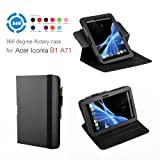Exact (TM) 360 degree Rotary case for Acer Iconia B1-A71 7-Inch Android Tablet Black