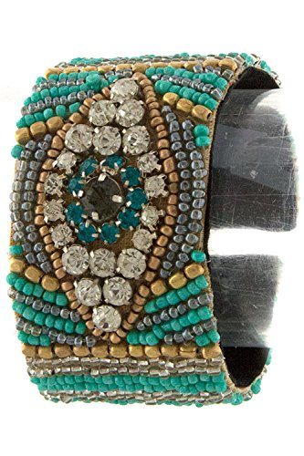 DIVA & DUCHESS BEAUTIFUL AND SPARKLY HANDMADE FROM INDIA BEADED CUFF