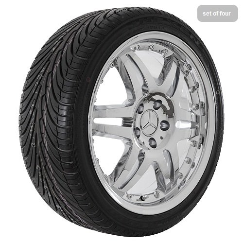 18″ Chrome 500 Series Wheels Rims and Tires for