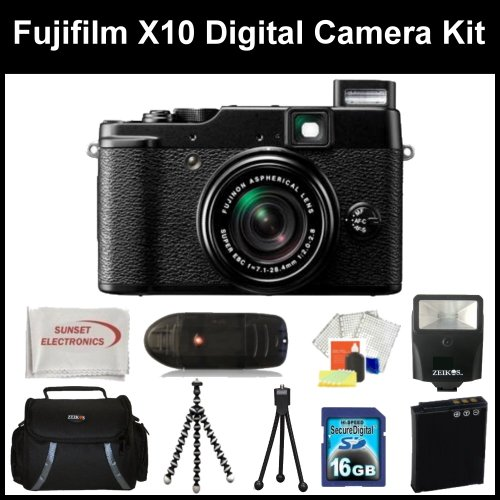 Fujifilm X10 Digital Camera Kit Includes: Fujifilm