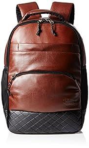 F Gear Luxur Brown Black 25 liter Laptop Backpack