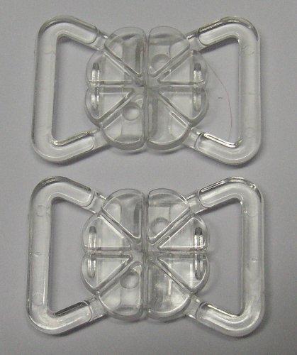 Großhandel für Schneiderbedarf 2 Bikini Verschlüsse transparent 15 mm