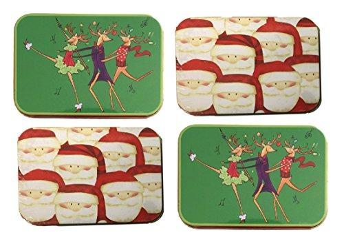 Christmas gift card holders tin box santa and dancing