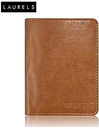 Laurels Aspire Tan Color Book Style Men's Leather Wallet (LW-Asp-06-BK)