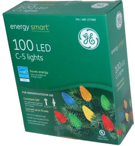 100 Led C-5 Holiday Christmas Lights (Multi Color)