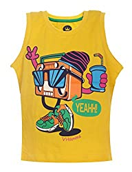 Vitamins Boys' T-Shirt (08Tb-402-4-Mango_Yellow_4 - 5 Years)