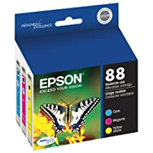 Epson DURABrite Ultra 88 Moderate-use Inkjet Cartridge Color Multipack 1 Cyan 1 Magenta 1 Yellow T088520