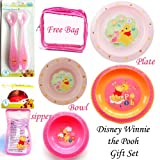 Disney Winnie the Pooh Gift Set Shipper, Spoon, Bowl, Plate and Bag