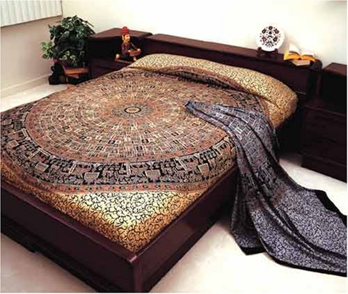 Lowest Price! Bagroo Print Indian Bedspread, Double Size