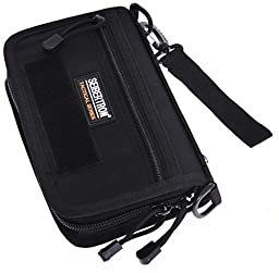 Seibertron Tactical Molle Compact BDU Wallet Carry Case Holster Phone Holder Black