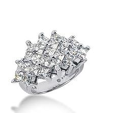 buy 18K Gold Diamond Anniversary Wedding Ring 25 Princess Cut Diamonds 4.25 Ctw. 386Wr157618K - Size 5