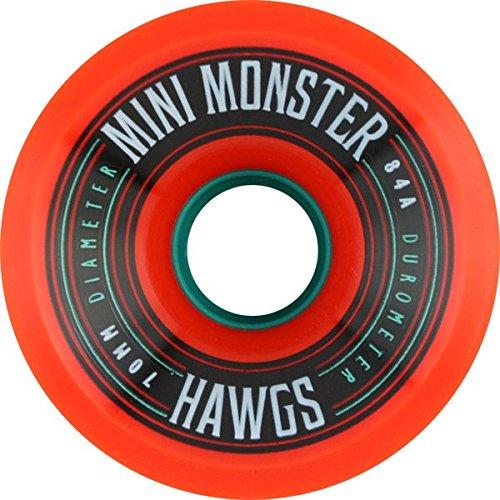 Hawgs Wheels Mini Monster Orange Skateboard Wheels - 70mm 84a (Set of 4) (Hawgs Mini Monster compare prices)