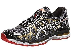 ASICS Men's Gel Kayano 20 Running Shoe,Black/White/Gold,8 M US