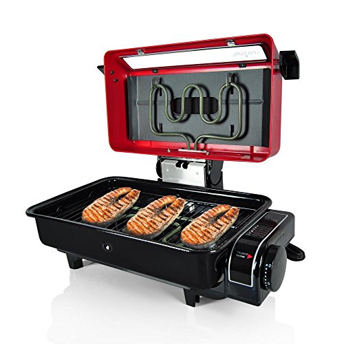 NutriChef Electric Grill Roaster Indoor and Outdoor Grilling  Barbecue For Fish Meat Etc , Red (PKFG14) (Grill Indoor Outdoor compare prices)