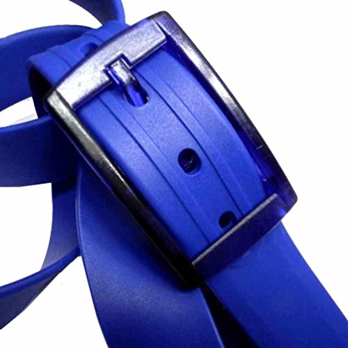 Avantgarde - CINTURA GOMMA tinta unita uomo blu royal con fibia in plastica anallergica, colore: blu royal