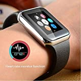 Smart Watch With Heart Rate Monitor Ottertooth Bluetooth Wristwatch With HD Touch Screen For IPhone Samsung Galaxy... - B01G19K5ZS
