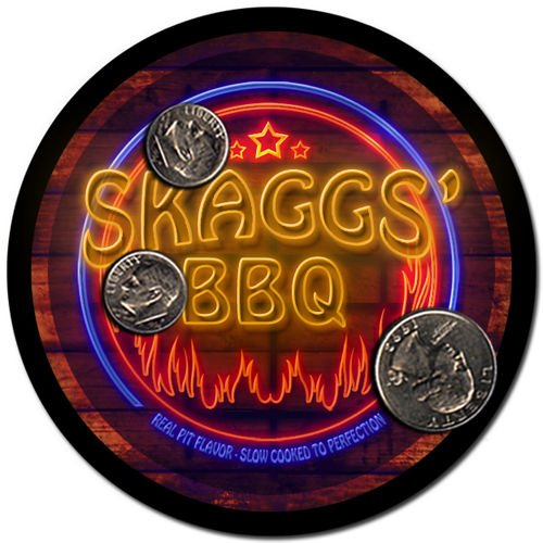 Skaggs' Barbeque Drink Coasters - 4 Pack