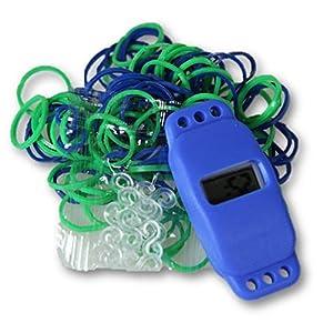 Loom Band Armbanduhr blau