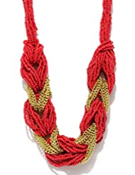 Blissdrizzle Red & Gold-Toned Necklace