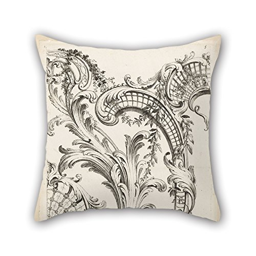 Loveloveu Throw Pillow Case Of Oil Painting Alexis Peyrotte - Shell Cartouches And Acanthus Leaf Motif,for Gf,bedroom,valentine,husband,adults,play Room 16 X