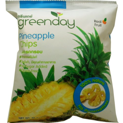 Crisp Pineapple Chips Snack Real Fruit 100% Natural Rich Nutrition Netwt 40G (1.41 Oz) X 4 Bags