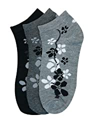 Women's (12 Pairs) Low Cut Patterned Socks - Many Designs Available