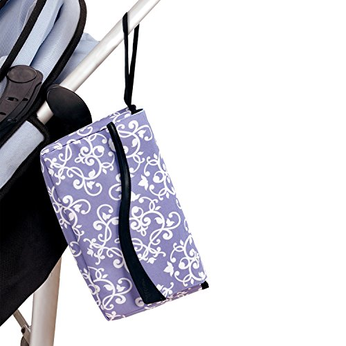 Portable Anytime Is The Right Time Diaper Change Pouch (Pretty Lavender) front-771041