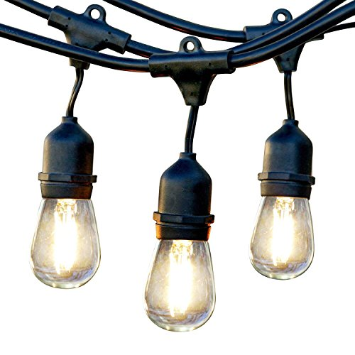 Brightech Ambience Pro LED Outdoor Weatherproof Commercial Grade String Lights, WeatherTite Technology - 1-watt LED Bulbs Included, 48 Foot String (Commercial Grade Bistro Lights compare prices)