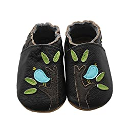 Sayoyo Baby Bird and Tree Soft Sole Leather Infant Toddler Prewalker Shoes
