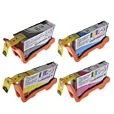 Lexmark 100XL Set of 4 inc Black, Cyan, Margenta, & Yellow high capacity compatible ink cartridges for Prospect Pro 205 208 Impact S305 S308 Interpret S405 S408 Intuition S505 S508 Interact S605 S608 Prevail Pro 705 Prestige Pro 805 Platinum Pro 905 Pinn