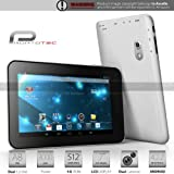 Prontotec 7 Inch Capacitive Touch Screen Tablet Pc - Cortex A8 Dual Core 12 Ghz - Android 422 - 4GB - Ddr3 512MB Ram - Dual Camera - Wi-fi - G-sensor White