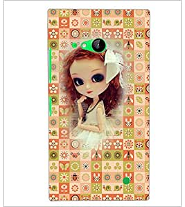PrintDhaba Sweet Doll D-3159 Back Case Cover for NOKIA LUMIA 730 (Multi-Coloured)