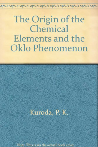 The Origin of the Chemical Elements and the Oklo Phenomenon