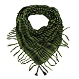 Trendy Plaid & Houndstooth Check Soft Square Scarf - Different Colors Available By TrendsBlue (Green & Black) by Kuldip