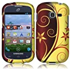 Samsung S738c S738 c Galaxy Centura Straight Talk Elegant Swirl HARD RUBBERIZED CASE SKIN COVER PROTECTOR