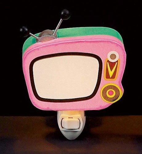 Children's Quality Designed Pink Tv Bedroom Night Light - 1