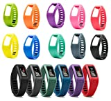 Biaoge 10PCS Replacement Bands with Plastic Clasps for Garmin Vivofit [Replacement Bands Only] Size 5.9-8.2 inches (1 Sets)