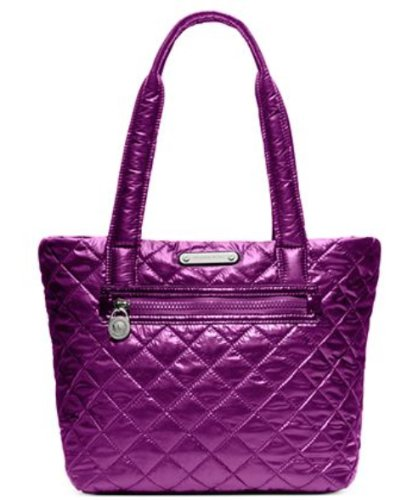 MICHAEL Michael KorsMichael Kors Sadie Large Quilted Nylon Tote Pomegranate Purple