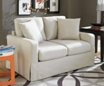Big Sale Sofab Lily Love Seat, Ivory