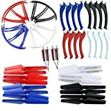 AVAWO® Upgraded 4 colors Syma X5SC X5SW Spare Parts Main Blade Propellers & amp; Engine & amp; Propeller Blades Frame Protectors & amp; Landing Skid Includes mounting screws RC Mini Quadcopter Toy