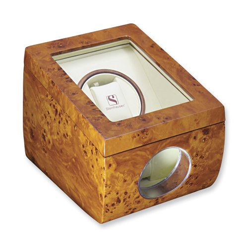 Steinhausen Single Watch Winder with 4-mode Timer, and Bidirectional ...