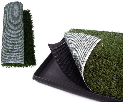 """Pet Park Dog Trainning Pad Indoor Home Pet Potty 25.5"""" X 20"""" X 2"""" With A Replacement Grass Mat front-843772"""