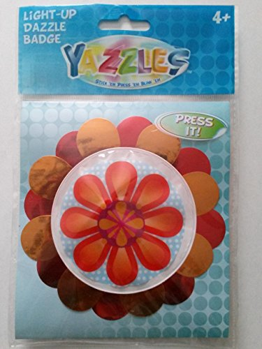 Yazzles Light-Up Dazzle Badge, Flower