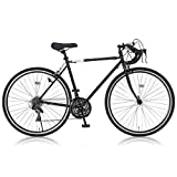 Grandir(グランディール) ロードバイク 700C シマノ21段変速[サムシフター]  2WAYブレーキシステム搭載  フレームサイズ520 Grandir Sensitive ブラック [520]