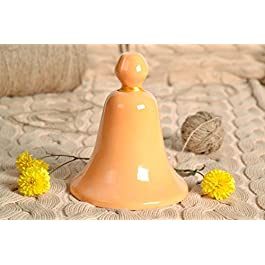 Ceramic Bell Painted with Engobes